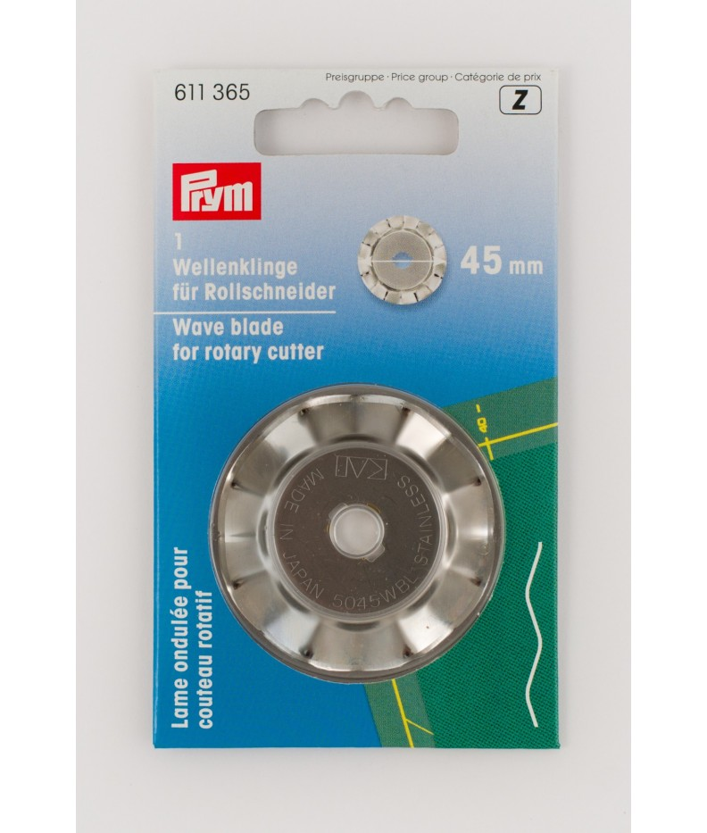 Wave blade for rotary cutter 45mm Prym