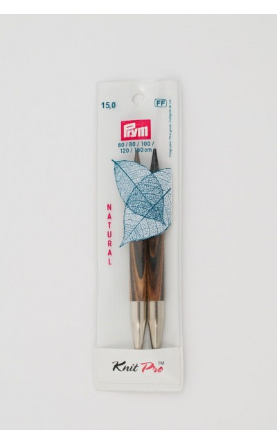 Natural knitting pin points set US 19