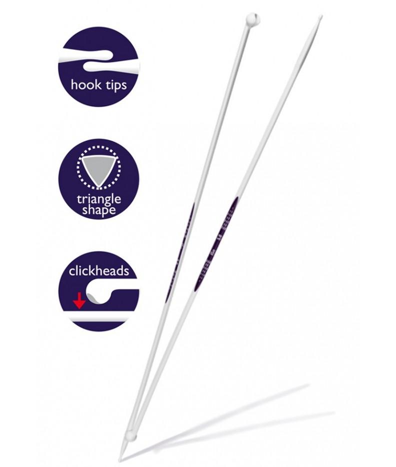 Ergonomic knitting needles 8 mm 40 cm