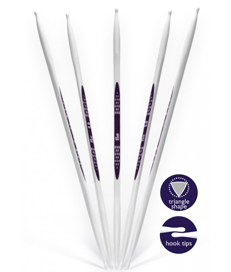 Double-pointed knitting needle Ergonomics US 8/20 cm
