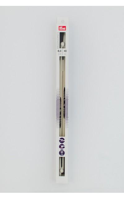 Ergonomic knitting needles 6 mm 40 cm