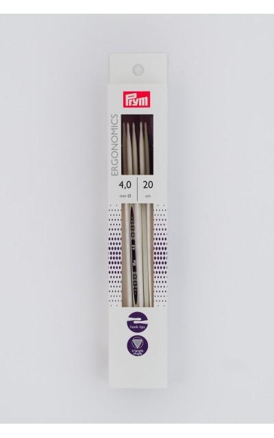 Double-pointed knitting needle Ergonomics US 6/20 cm