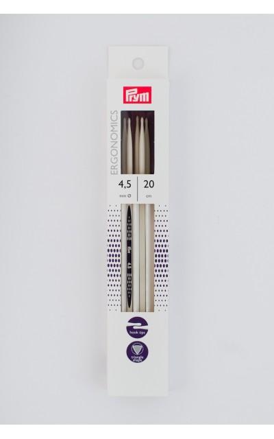 Double-pointed knitting needle Ergonomics US 7/20 cm