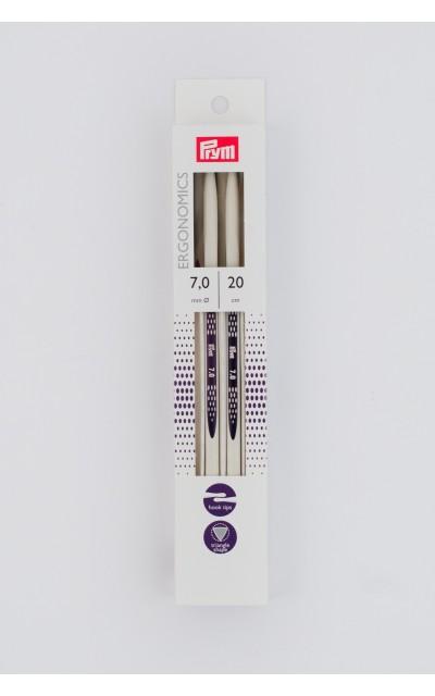 Double-pointed knitting needle Ergonomics US 10.5/20 cm