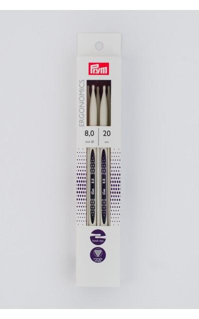 Double-pointed knitting needle Ergonomics US 11/20 cm