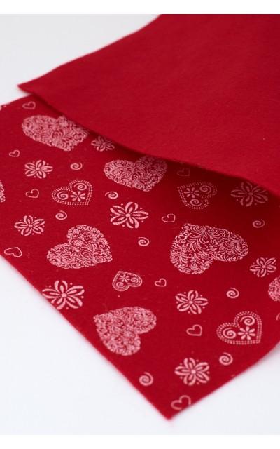 Pannolenci Romantic 010 rosso fiamma