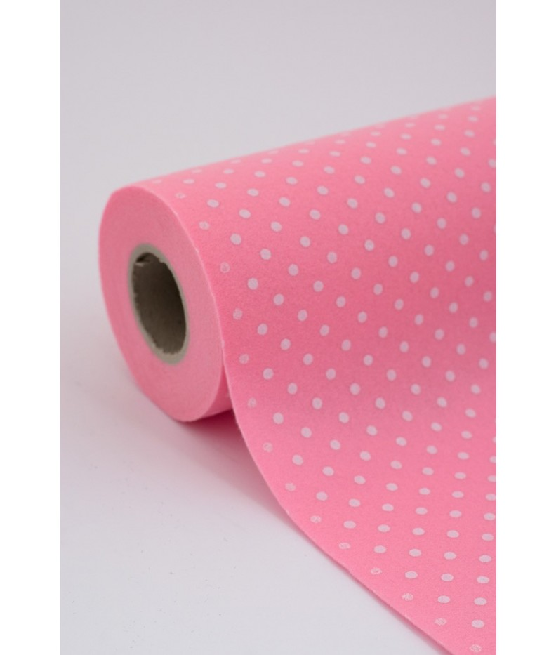 Roll of Cloth felt Polka 006 pink