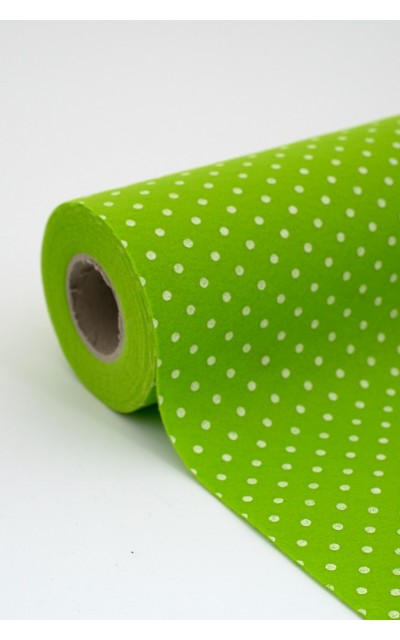 Roll of Cloth felt Polka 013 green apple