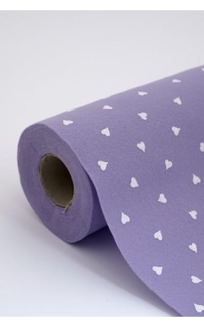 Tuch filz stoff herzen gedruckt rolle
