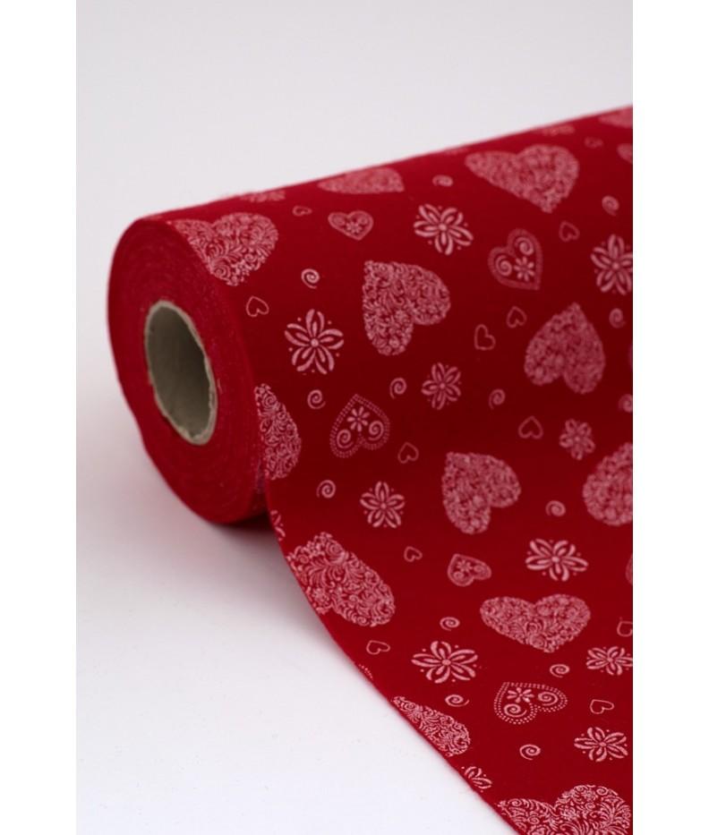 Tuch filz stoff Romantisch gedruckt  Rolle