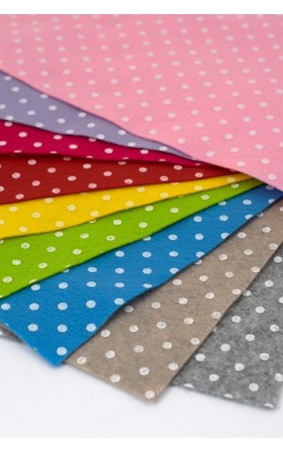 Tuch filz stoff Polka Dot Gedruckt 20x30 cm