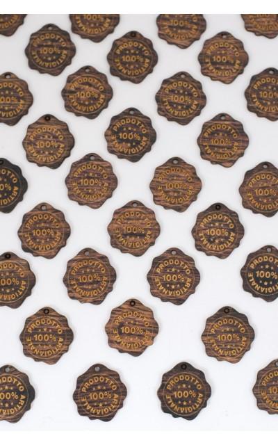 Label holz - 100% ARTIGIANALE