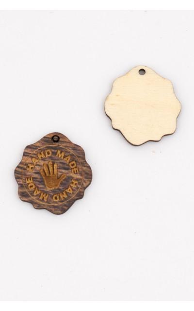 Targhetta in legno - HANDMADE