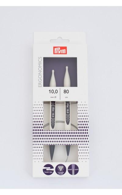 Ergonomic circular knitting needles  US 15/80 cm Prym