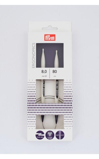 Ergonomic circular knitting needles  US 11/80 cm Prym
