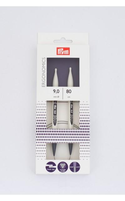 Ergonomics rundstricknadel  9 mm 80 cm Prym