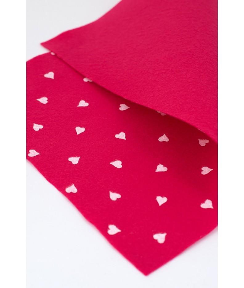 Cloth felt heart 45x50 cm