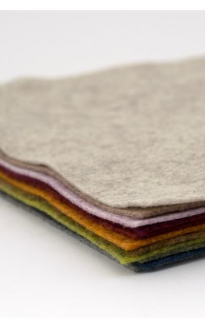 Tuch filz stoff Melange 45x50 cm