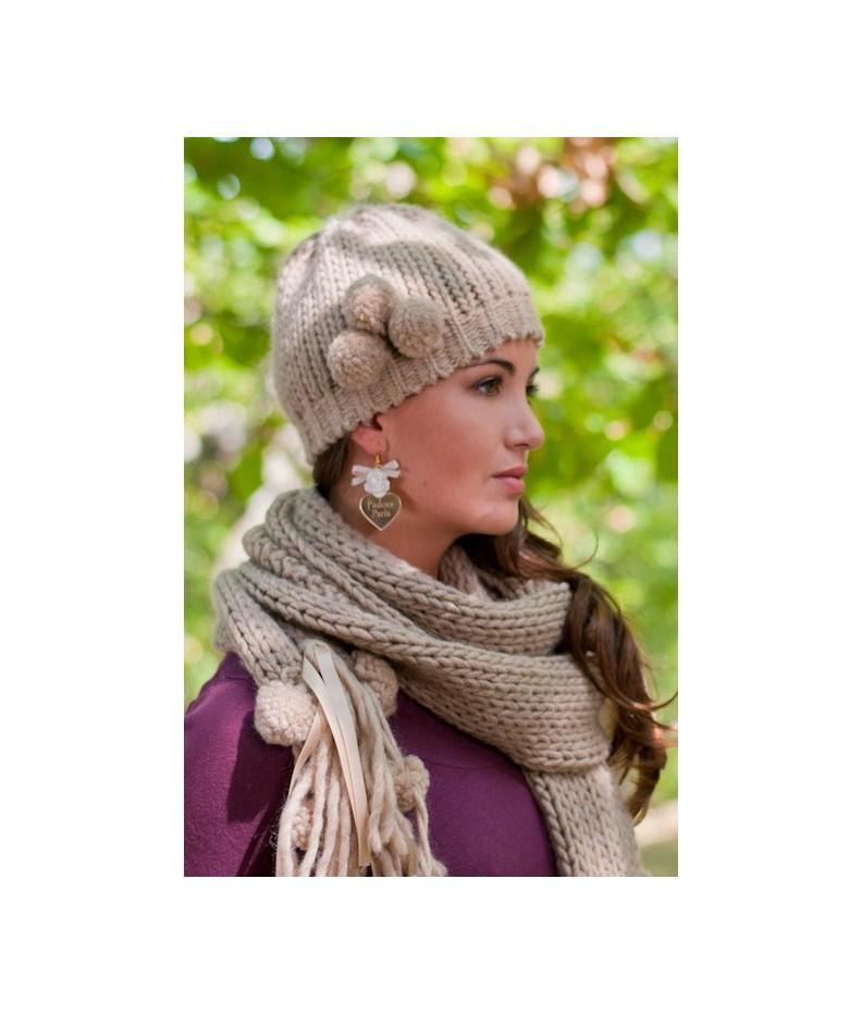 stile distintivo 100% di alta qualità stili di grande varietà Cappello e sciarpa Pon Pon - Ophelia Italy -