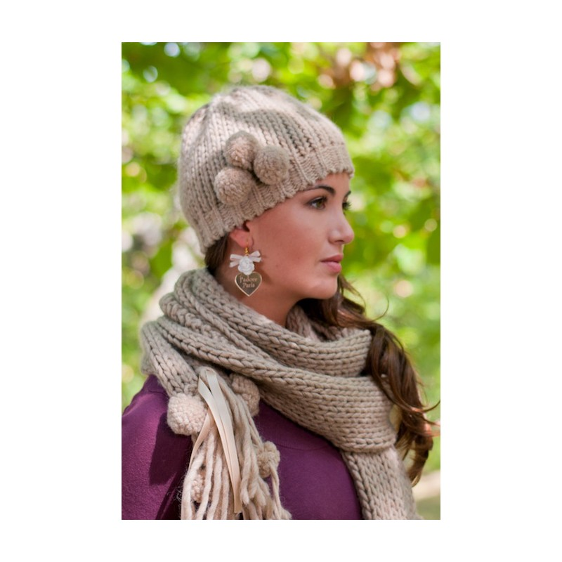 Cappello e sciarpa Pon Pon - Ophelia Italy - c8303c0d56d0