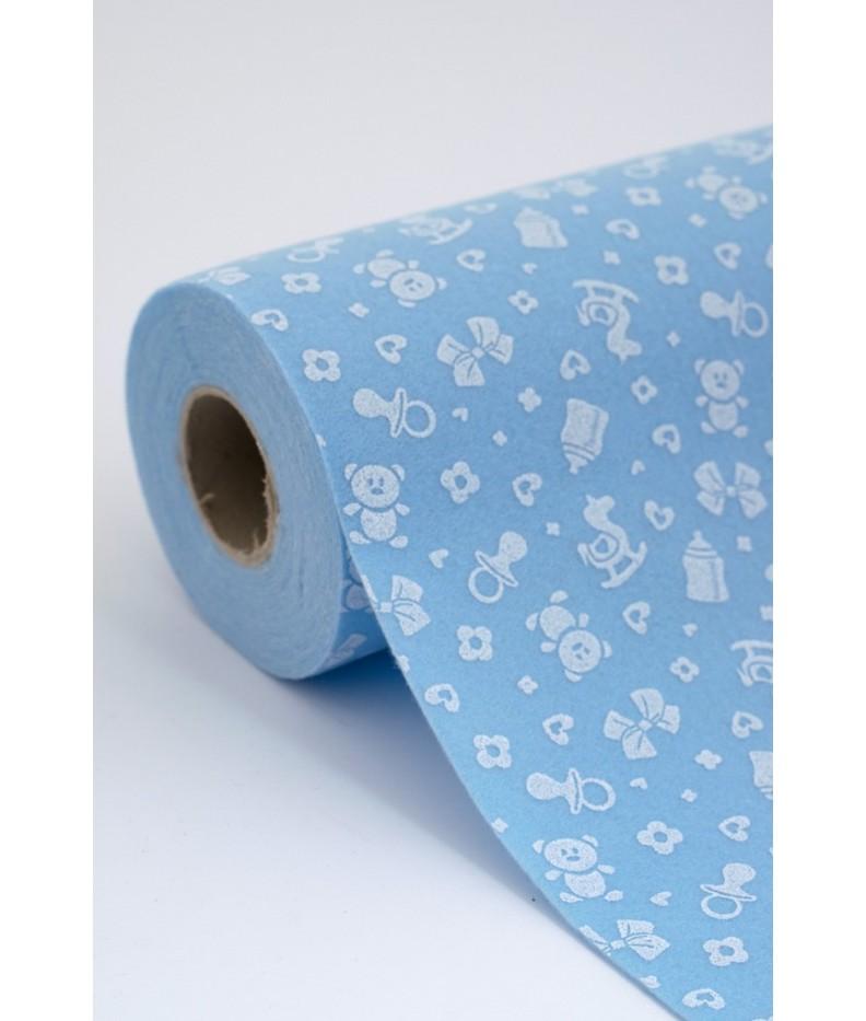 Roll of Cloth felt Birth Blue