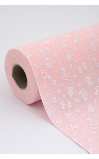 Roll of Cloth felt Birth Pink