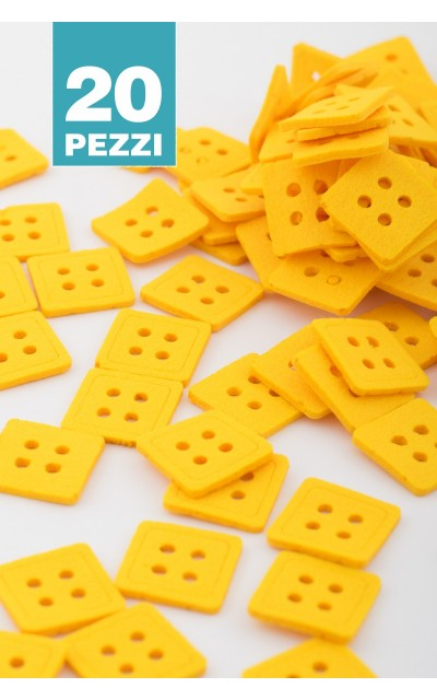 Bottone quadrato 20 pezzi
