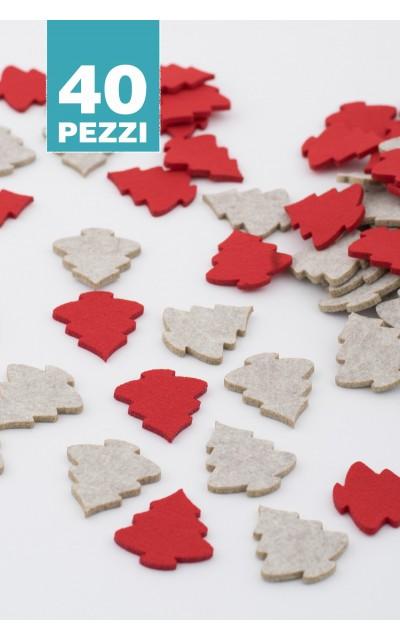 Alberini Natale 2 colori 40 pezzi