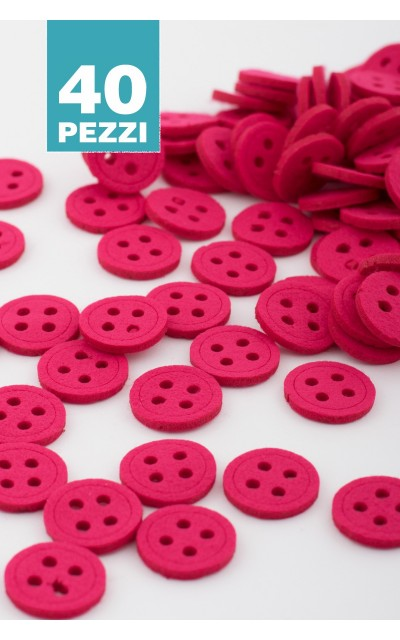 Round button felt 40 pieces