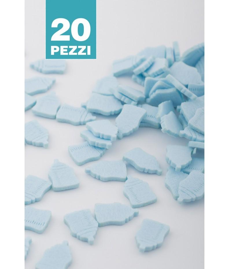 Babyflasche filz himmelblau 20 Stück