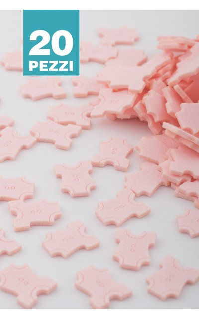 Baby Body of Felt - Light pink 20 pieces