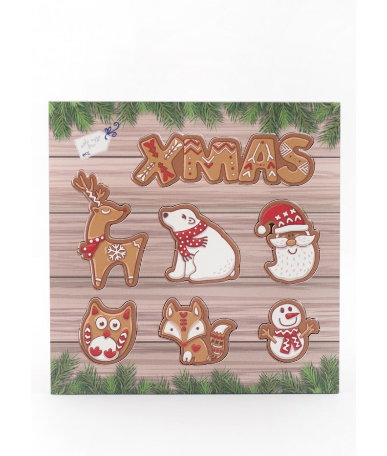 Decorative wooden tags - 001