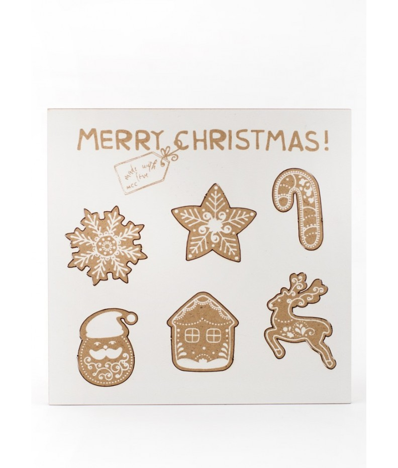 Decorative wooden tags - 002