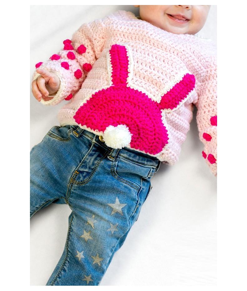 Popolare Maglione Coniglio per Neonato - Kit Ophelia Italy WQ36