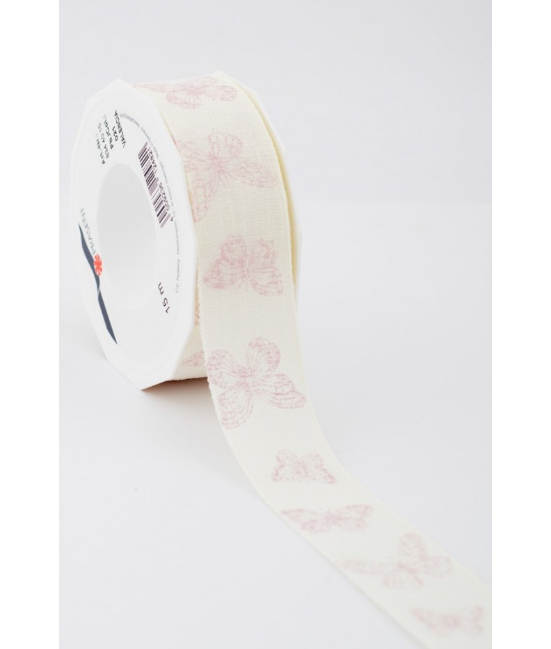 Ribbon Butterfly pink 40mm