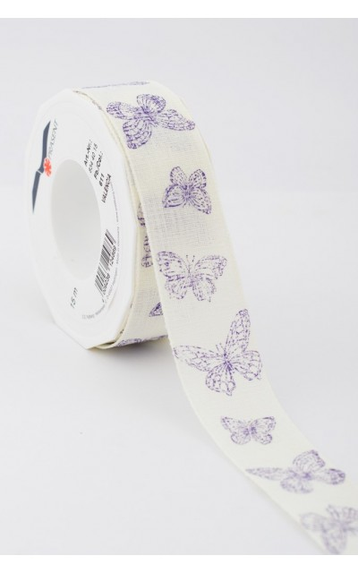Ribbon Butterfly violet 40mm