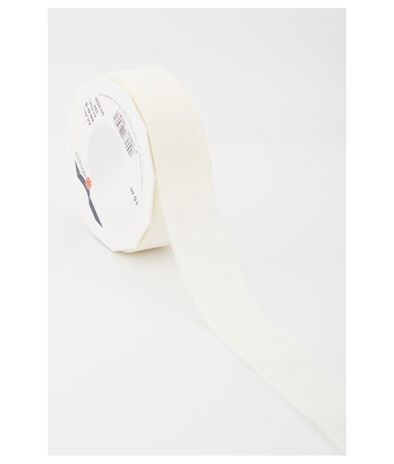 Stoffband Fantesie weiß  40mm