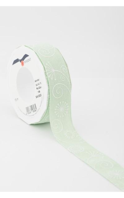 Stoffband Fantesie hellgrün  40mm