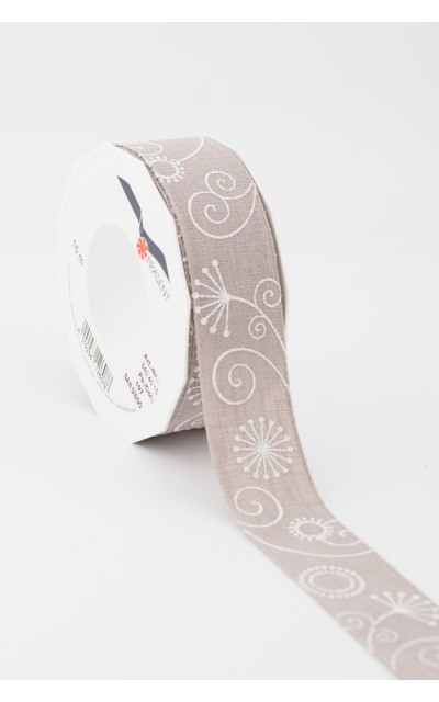 Ribbon Fantasy Taupe 40mm