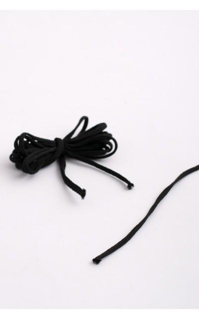 Elastico nero piatto per mascherine - 10 metri