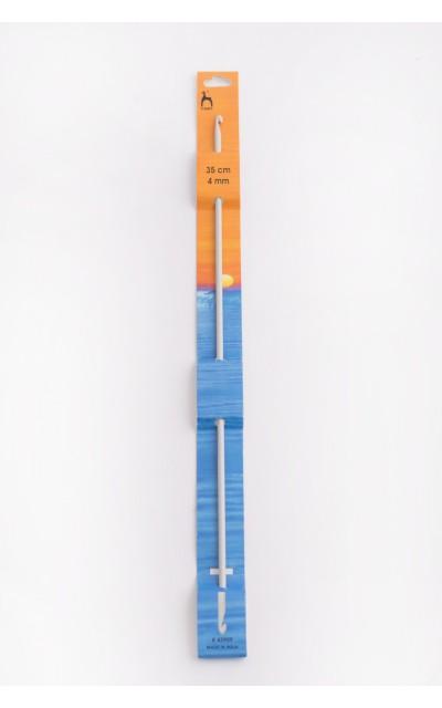 4 mm - 35 cm Tunesische Häkelnadel, doppelte Spitze