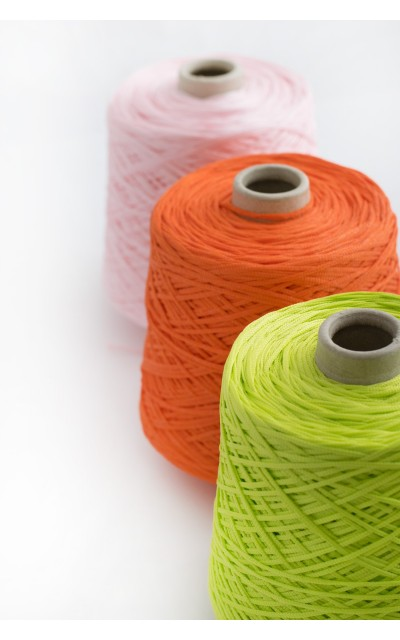 Colored elastic ribbon