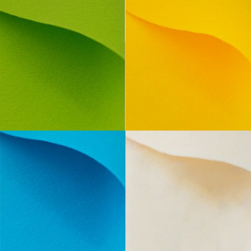 003 verde giallo turchese panna